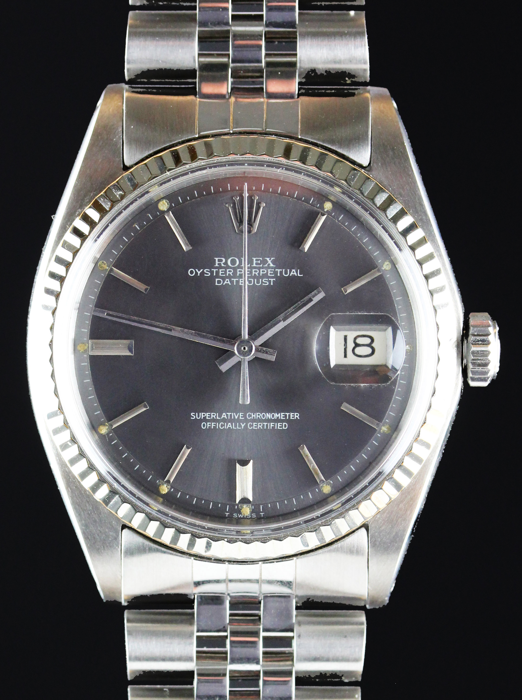 ROLEX Datejust ref. 1601 in steel & white gold from 1972