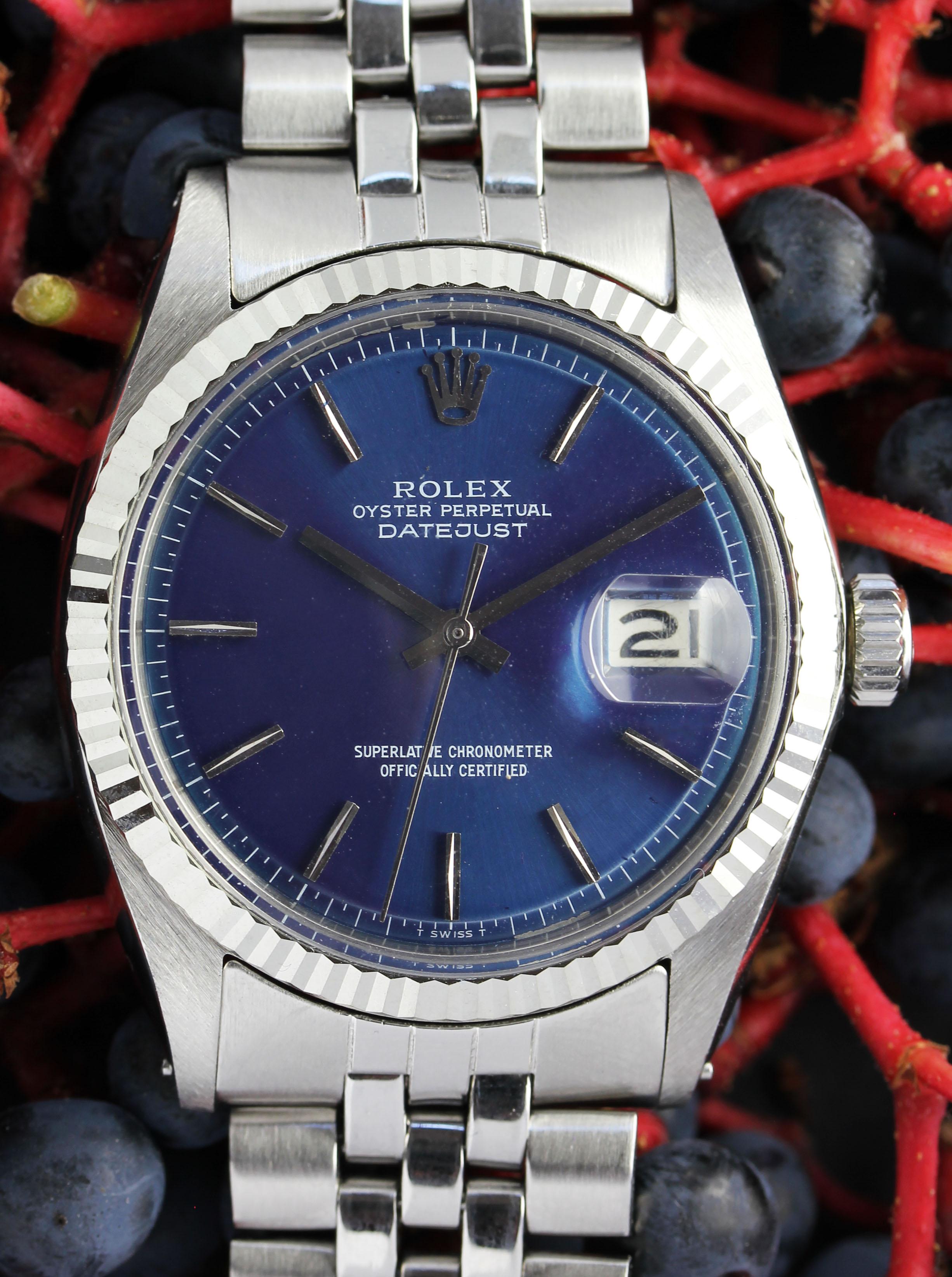 ROLEX Datejust from 1970 with rare blue dial