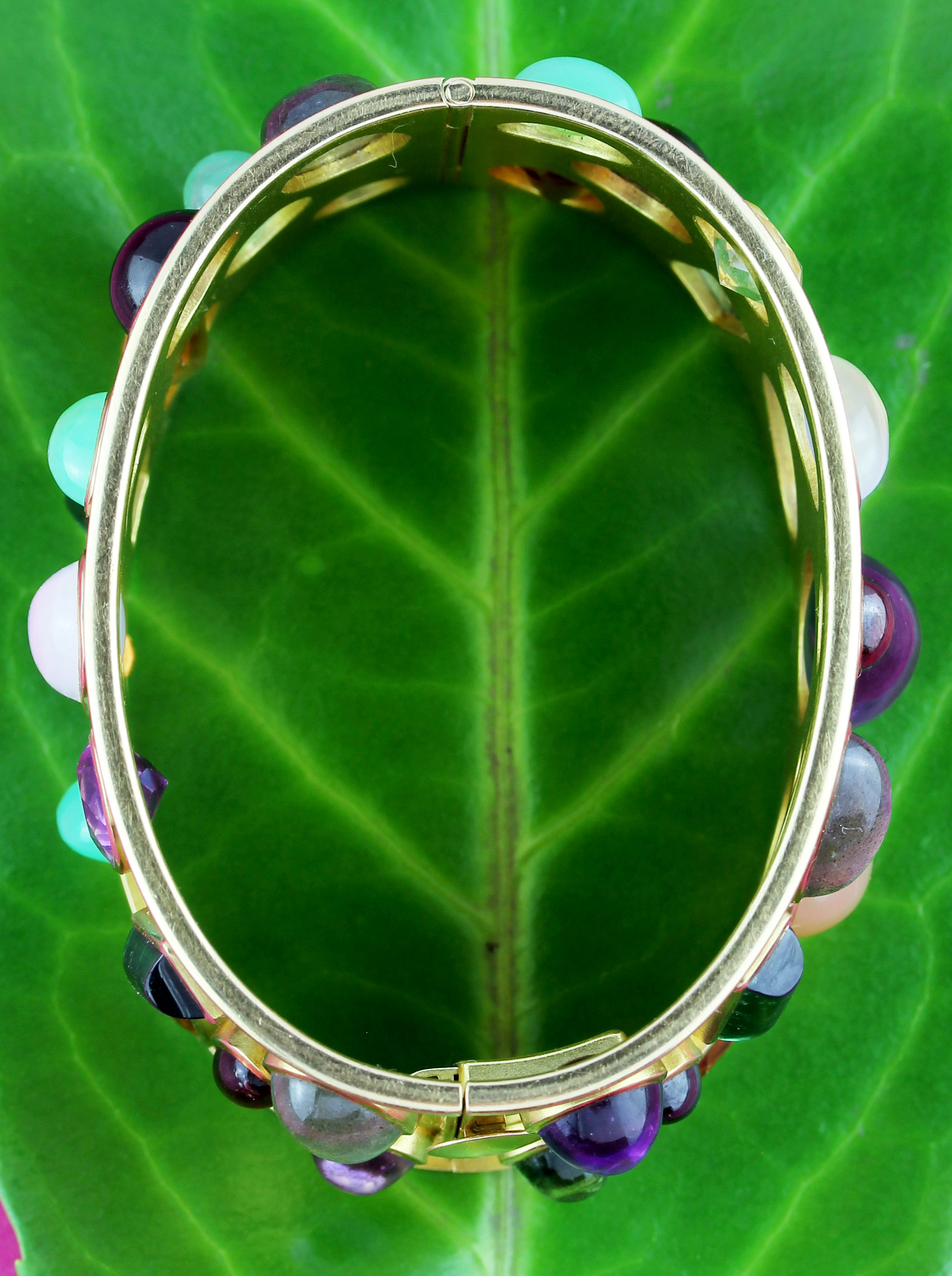 Colorful handmade gold bangle