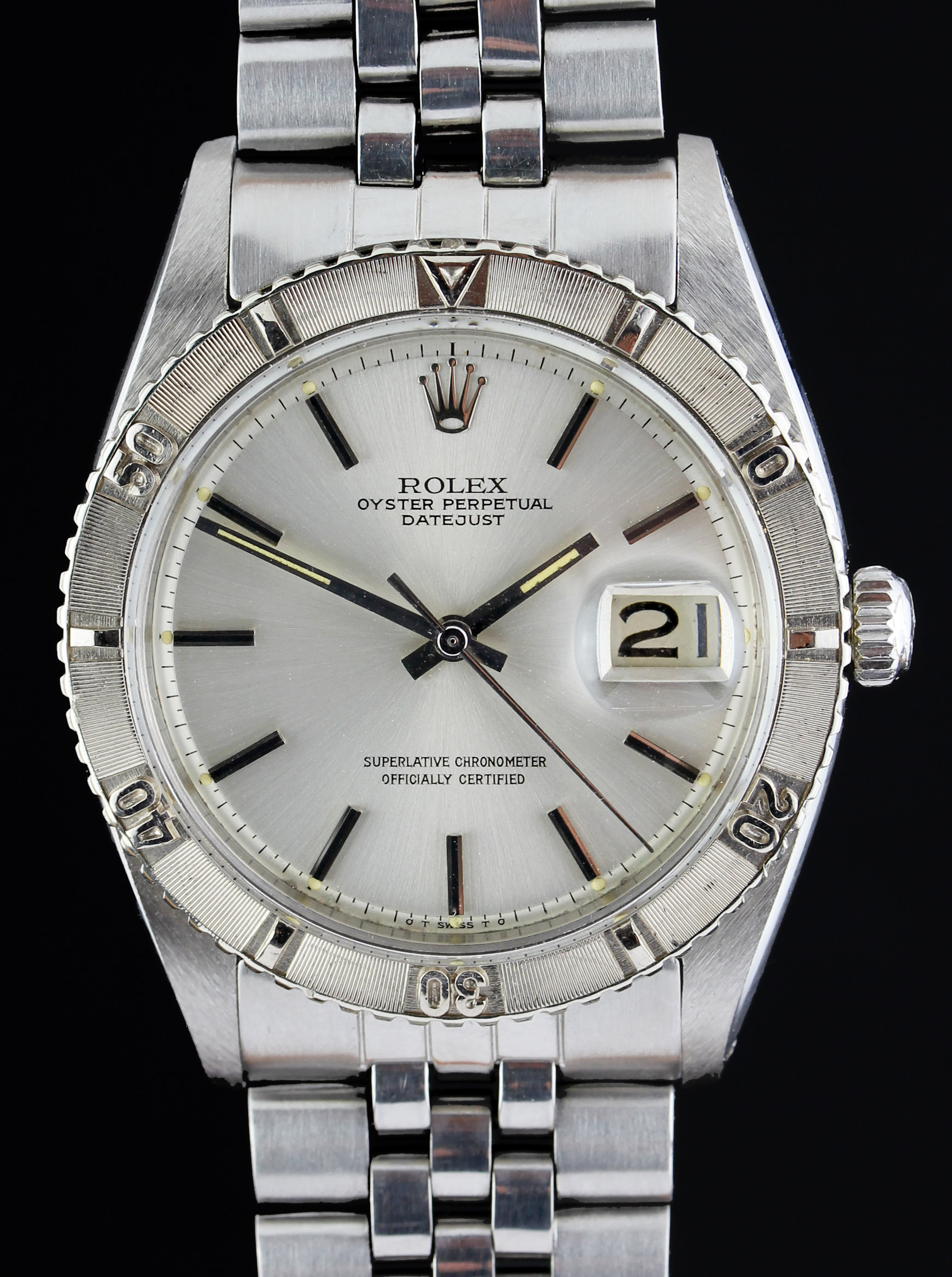 "ROLEX Turnograph ""Thunderbird"" from 1962 with rare Sigma dial"