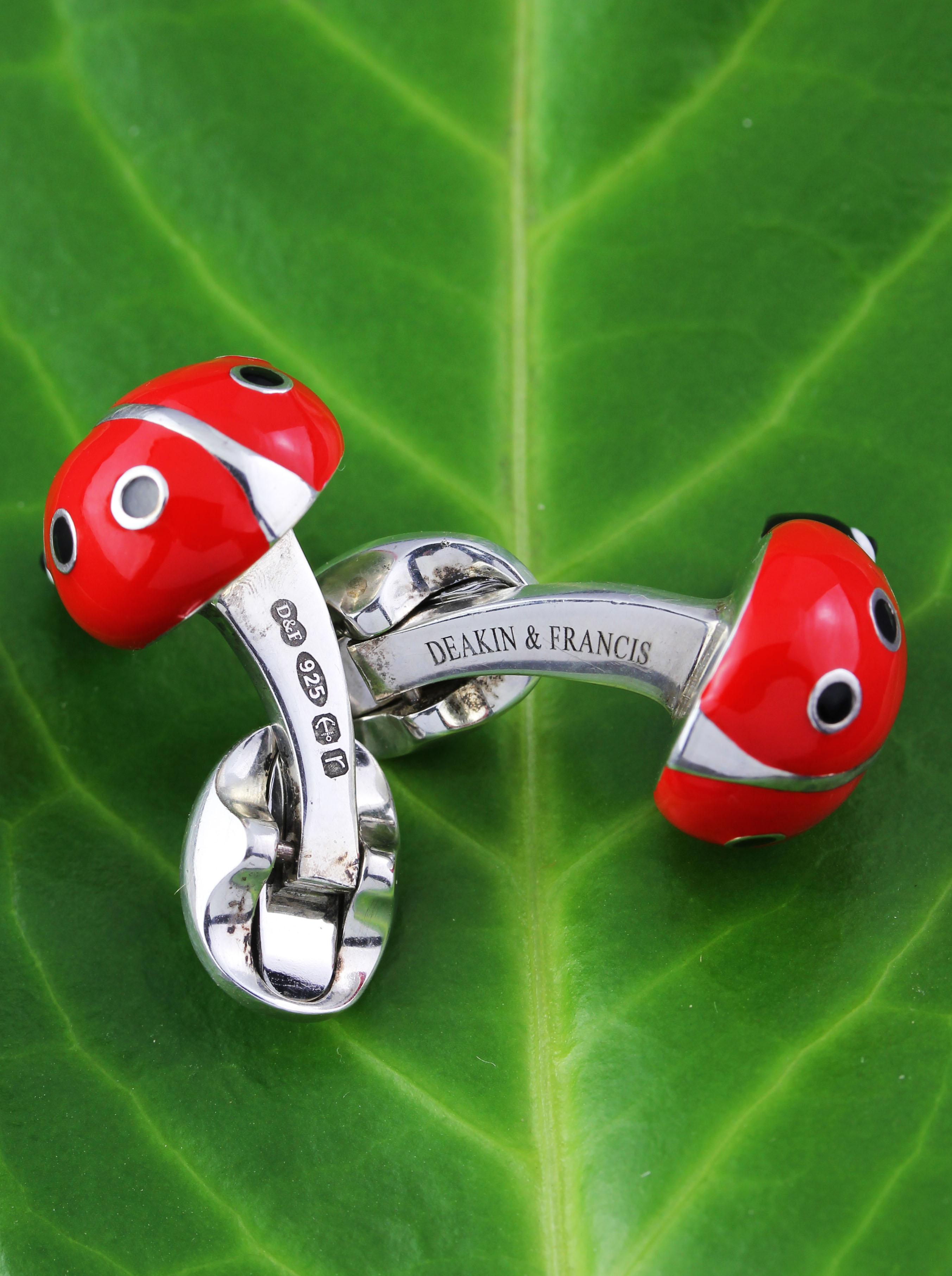 Beetle cufflinks made by DEAKIN & FRANCIS