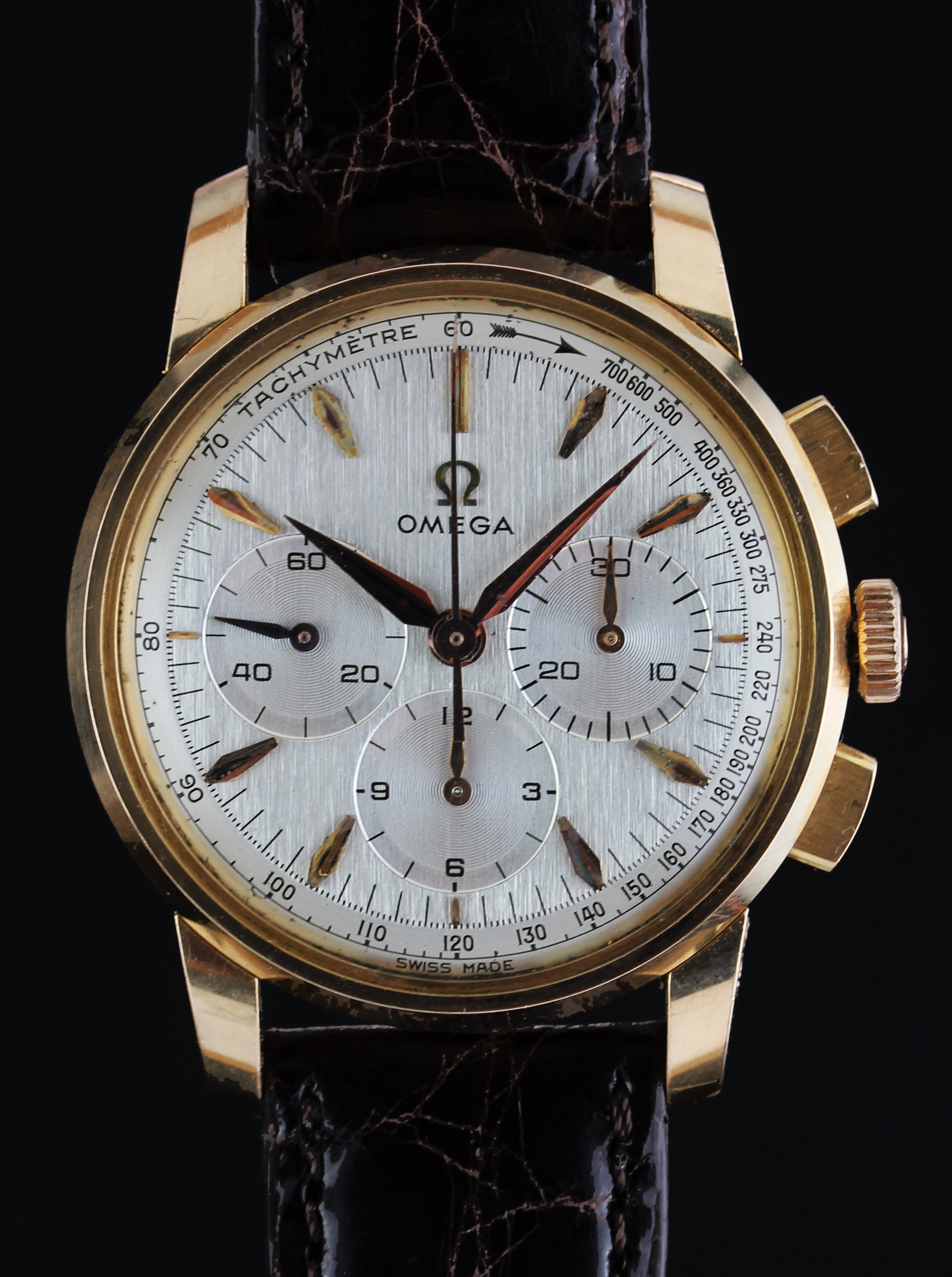 OMEGA chronograph in rose gold from 1961