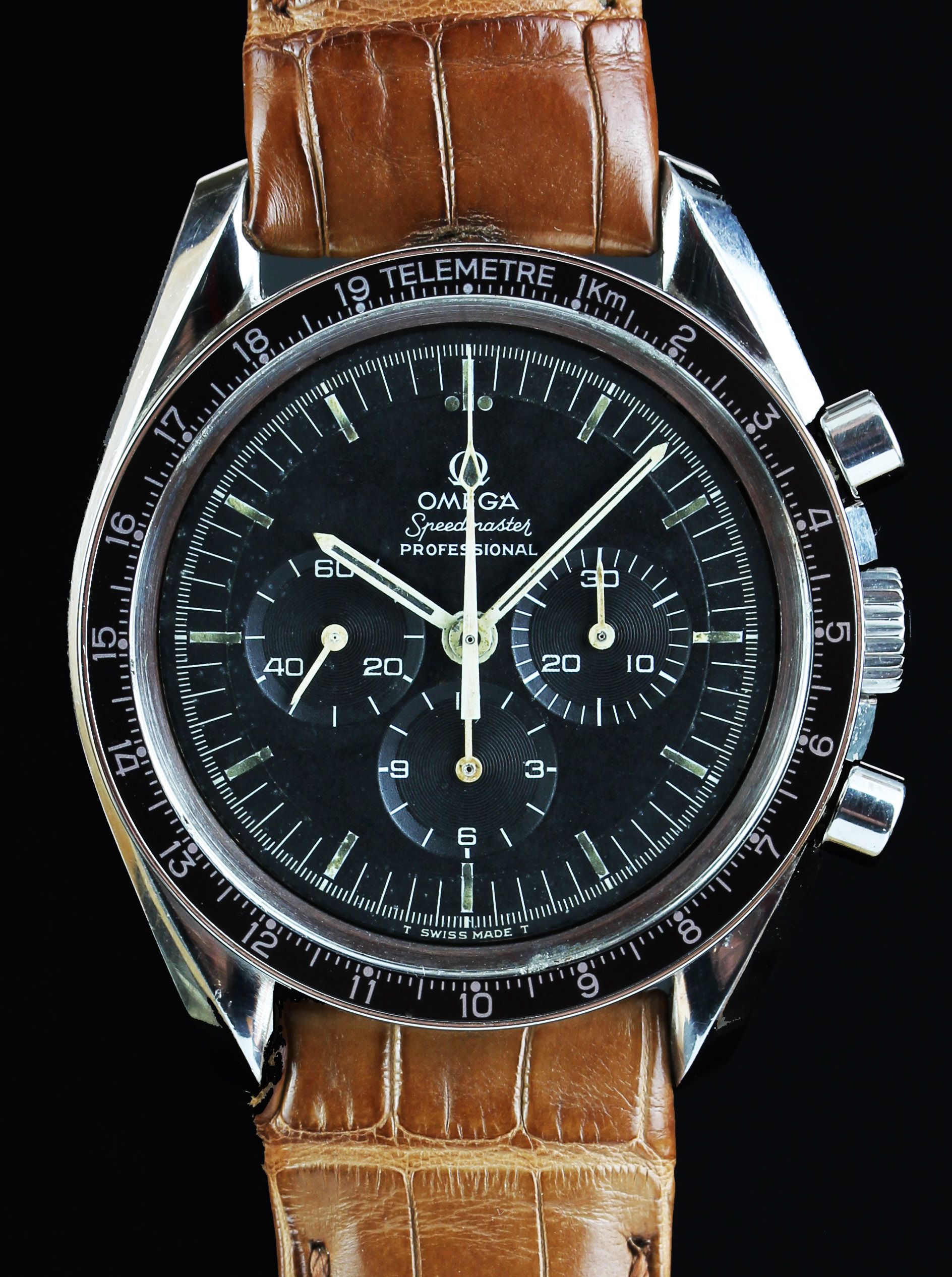 Omega pre-moon Speedmaster from 1969 with telemetre scale