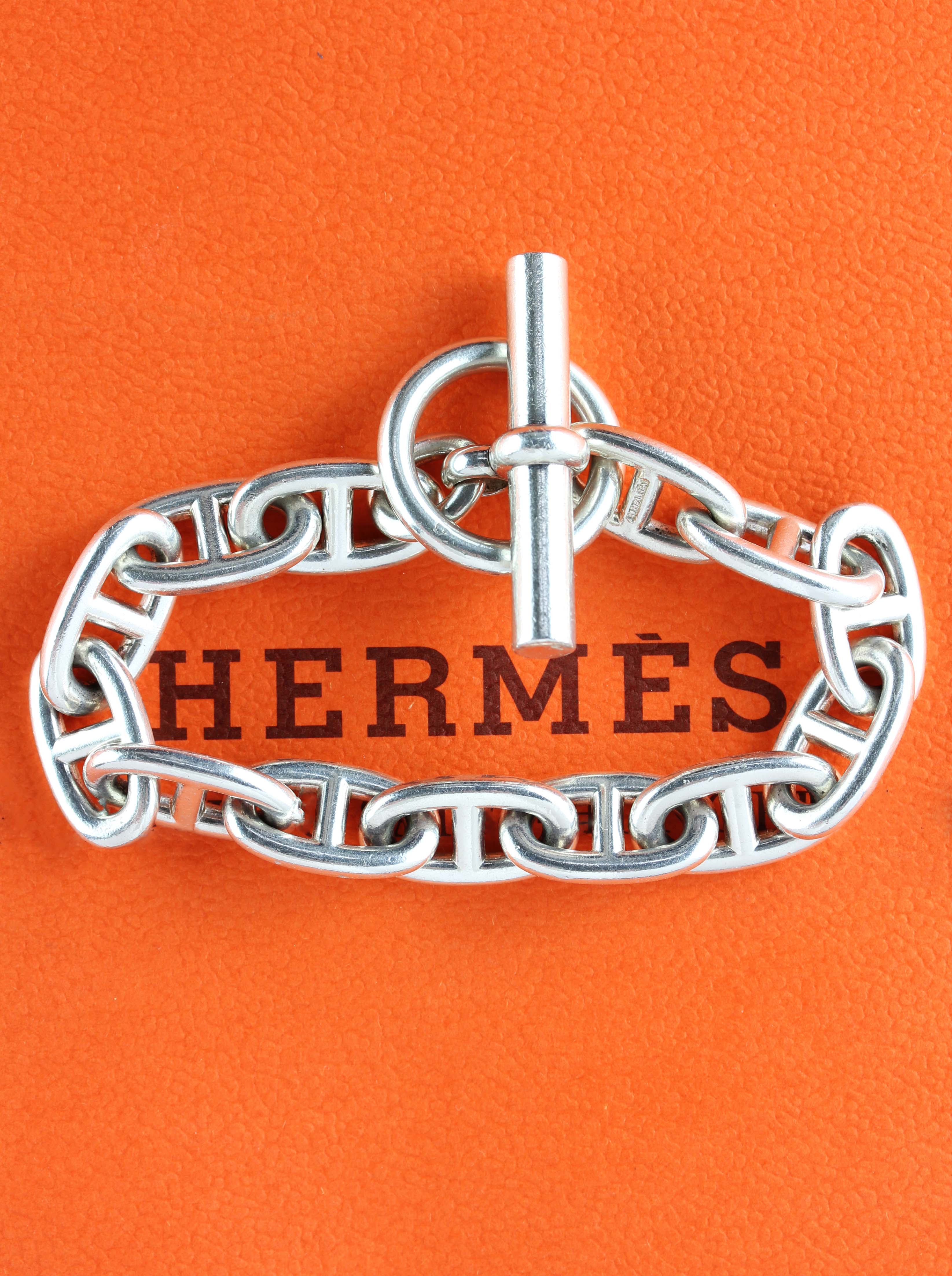 """HERMÉS """"Chaine d' Ancre"""" in Sterling Silver"""