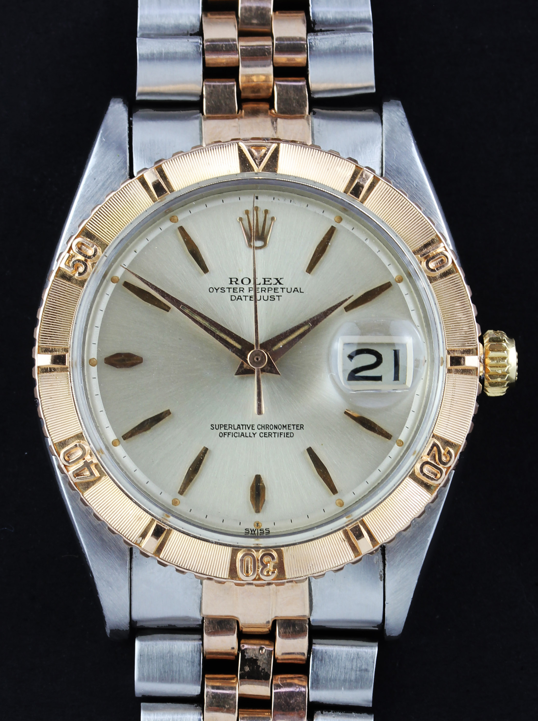 "ROLEX Turnograph ""Thunderbird""  from 1959 in steel/pink gold"