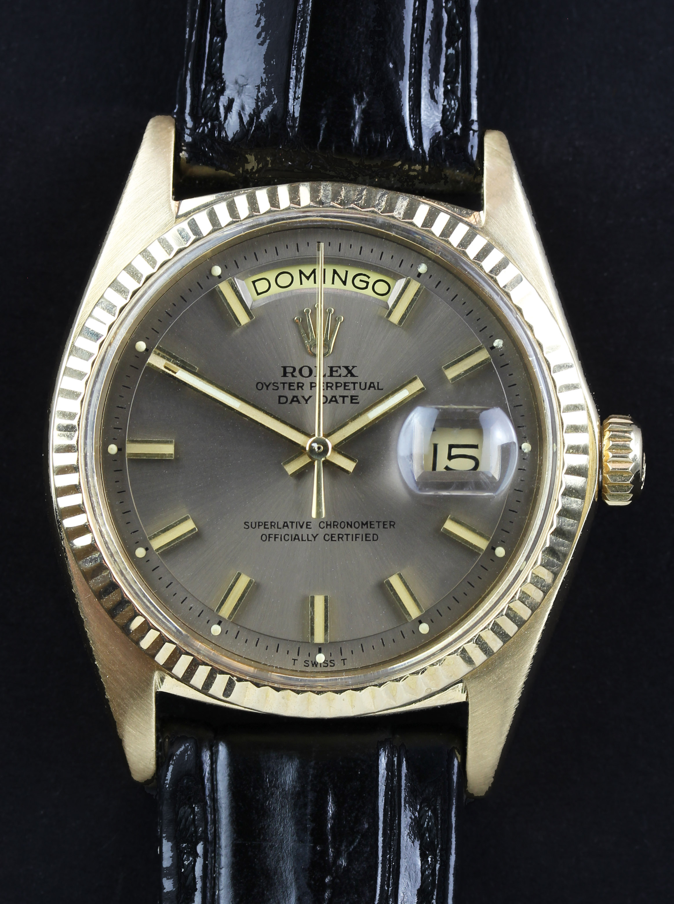 """ROLEX Day-Date ref. 1803 with rare """"wide boy dial"""""""