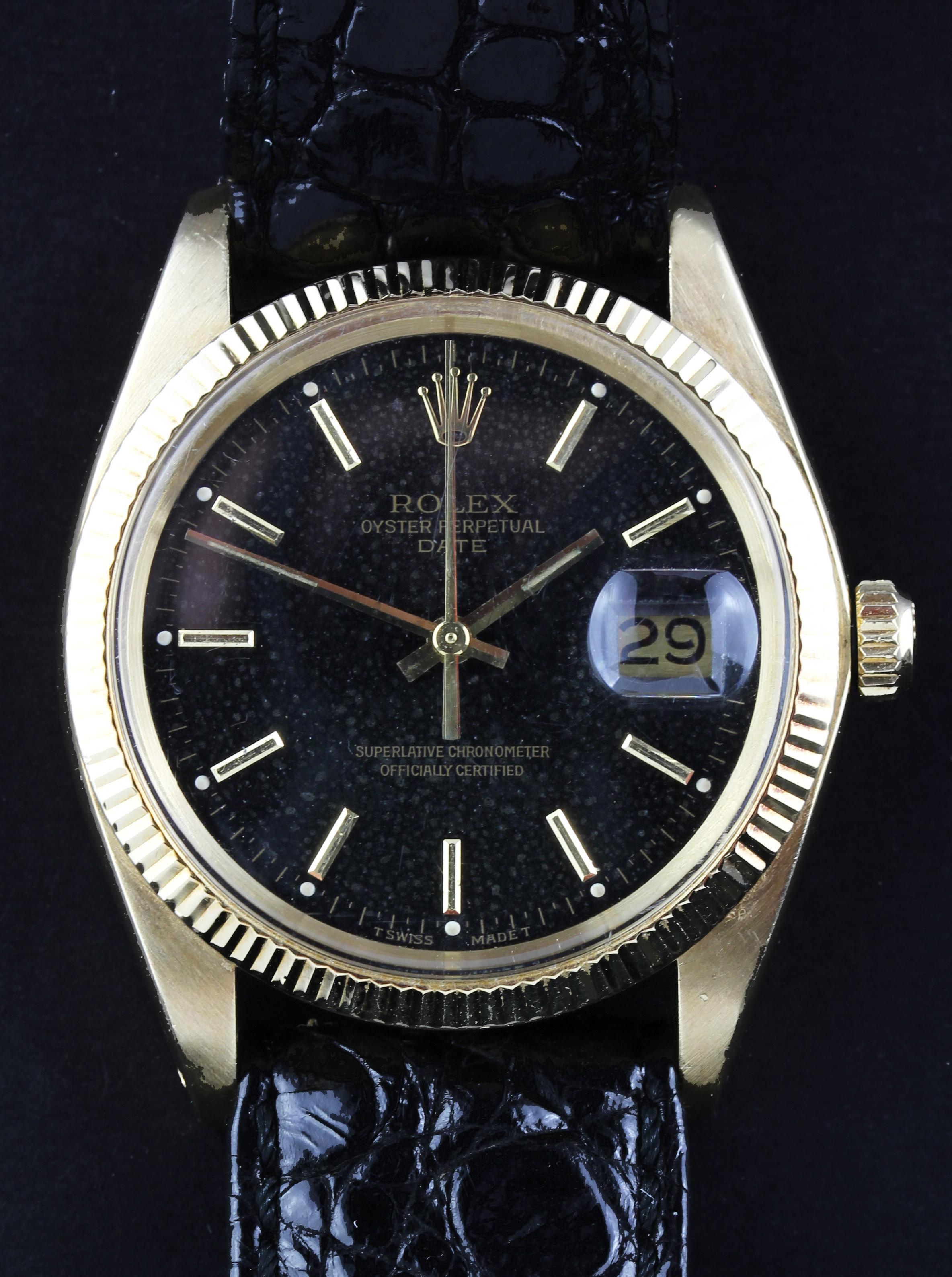 Rare ROLEX Date with original black dial, ref. 1503
