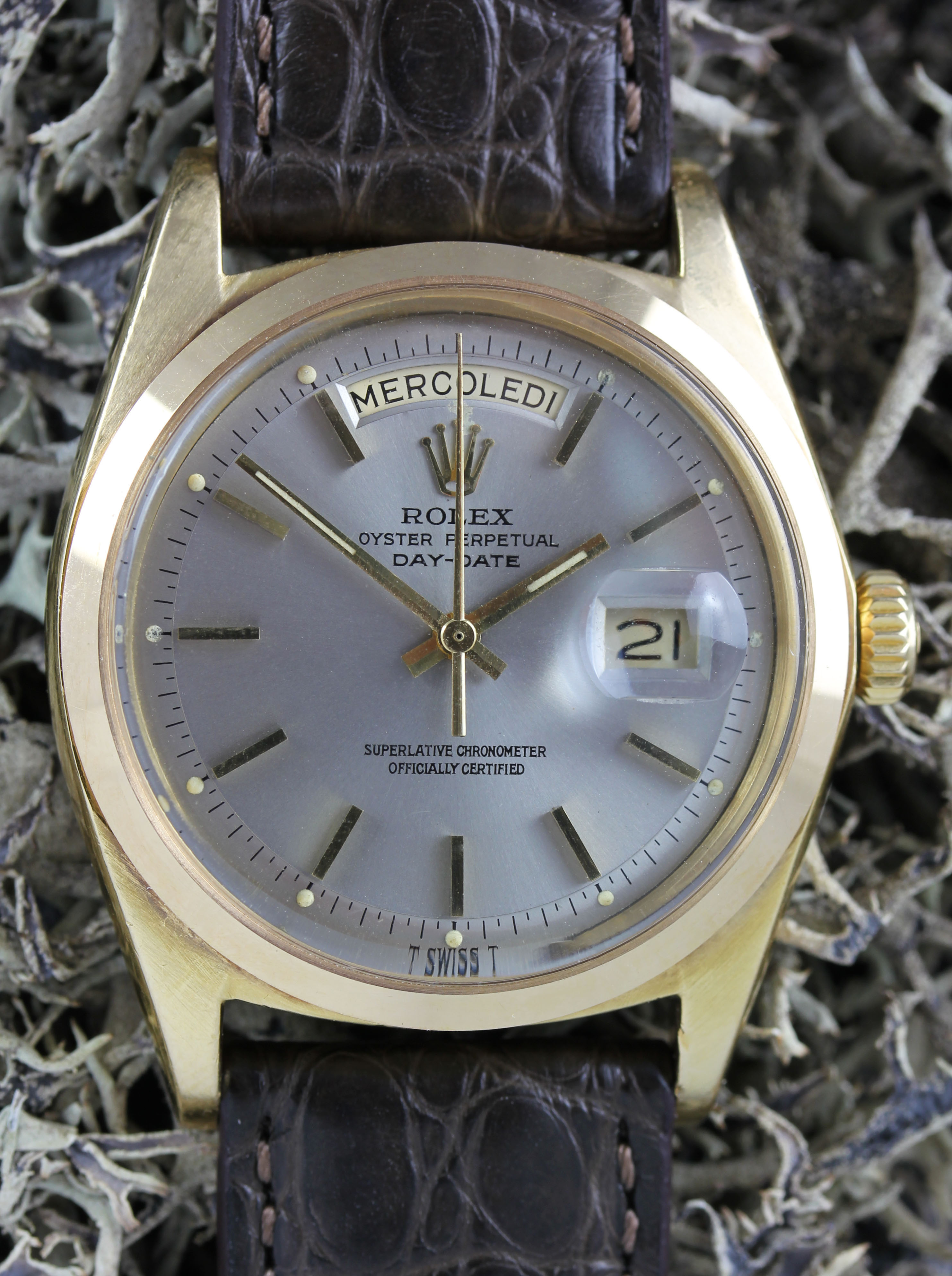 ROLEX Day-Date, ref. 1802 from 1974 with a rare plain bezel
