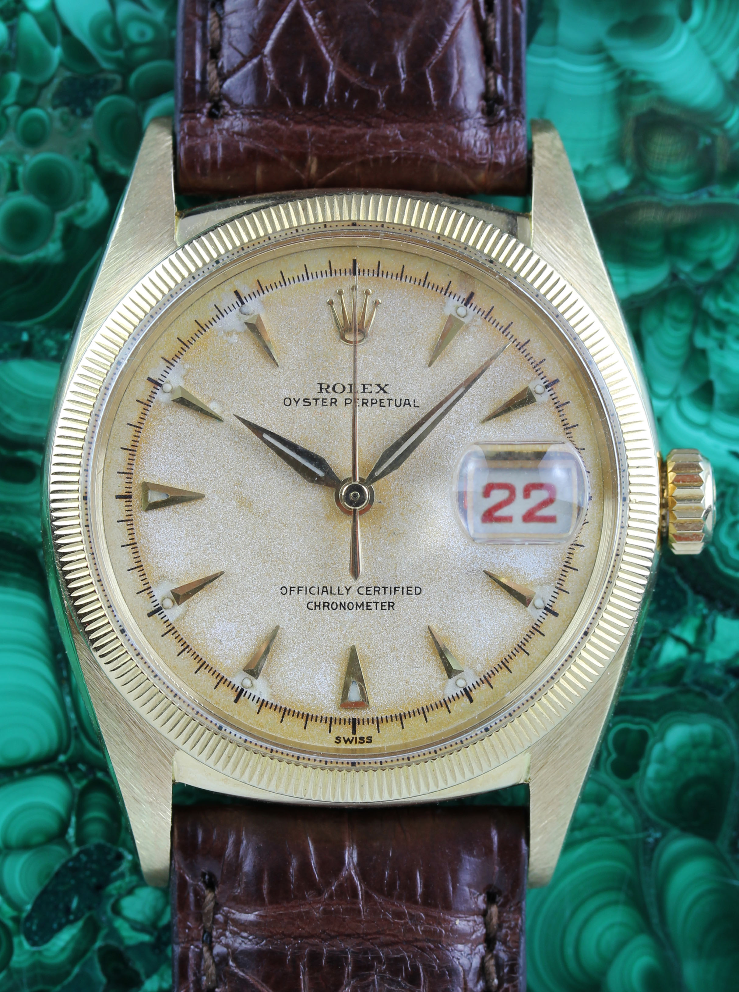 Rare & early ROLEX Datejust in gold, from 1953