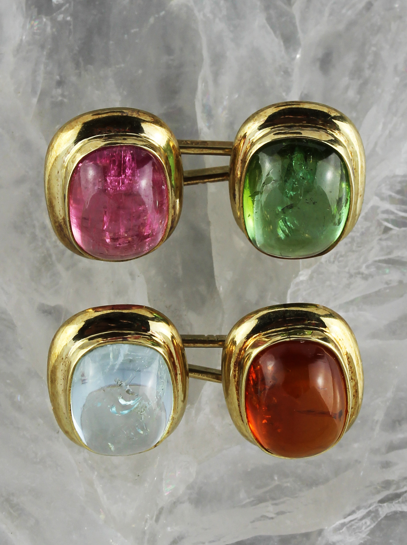 Colorful gold cufflinks