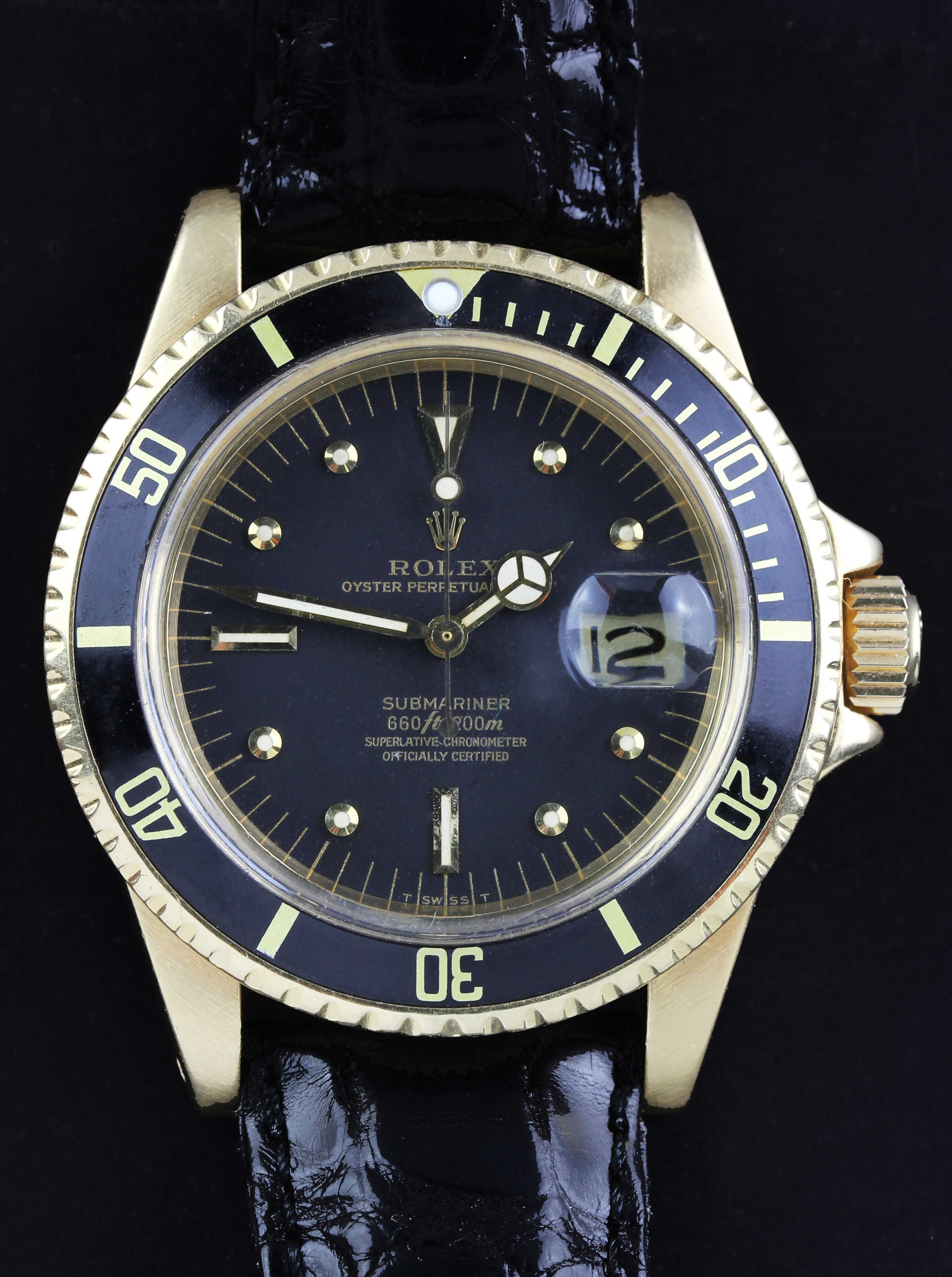 ROLEX Submariner ref. 1680 in gold from 1974
