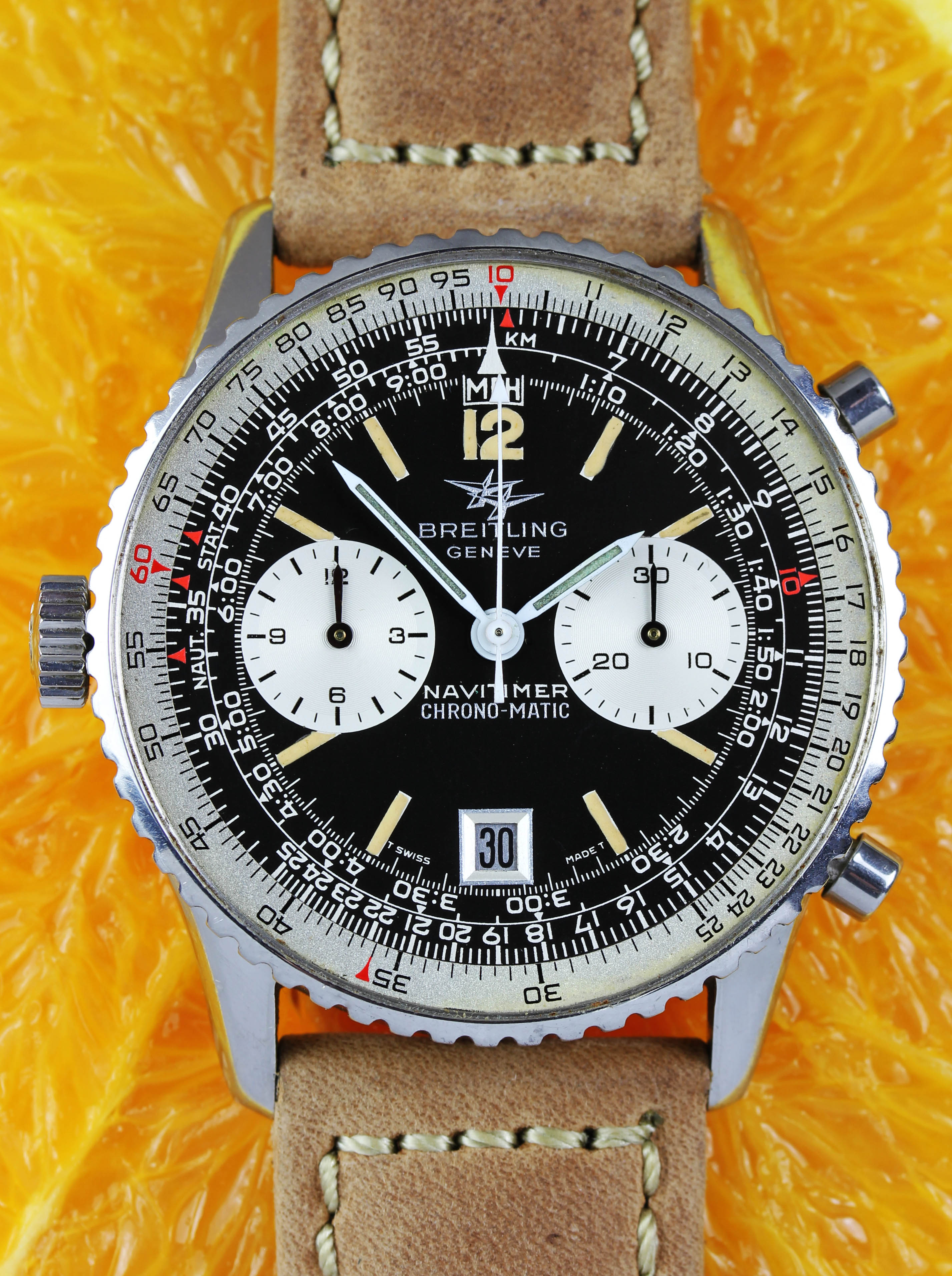 """BREITLING Navitimer """"Chrono-Matic with date from 1973"""", ref. 8806"""