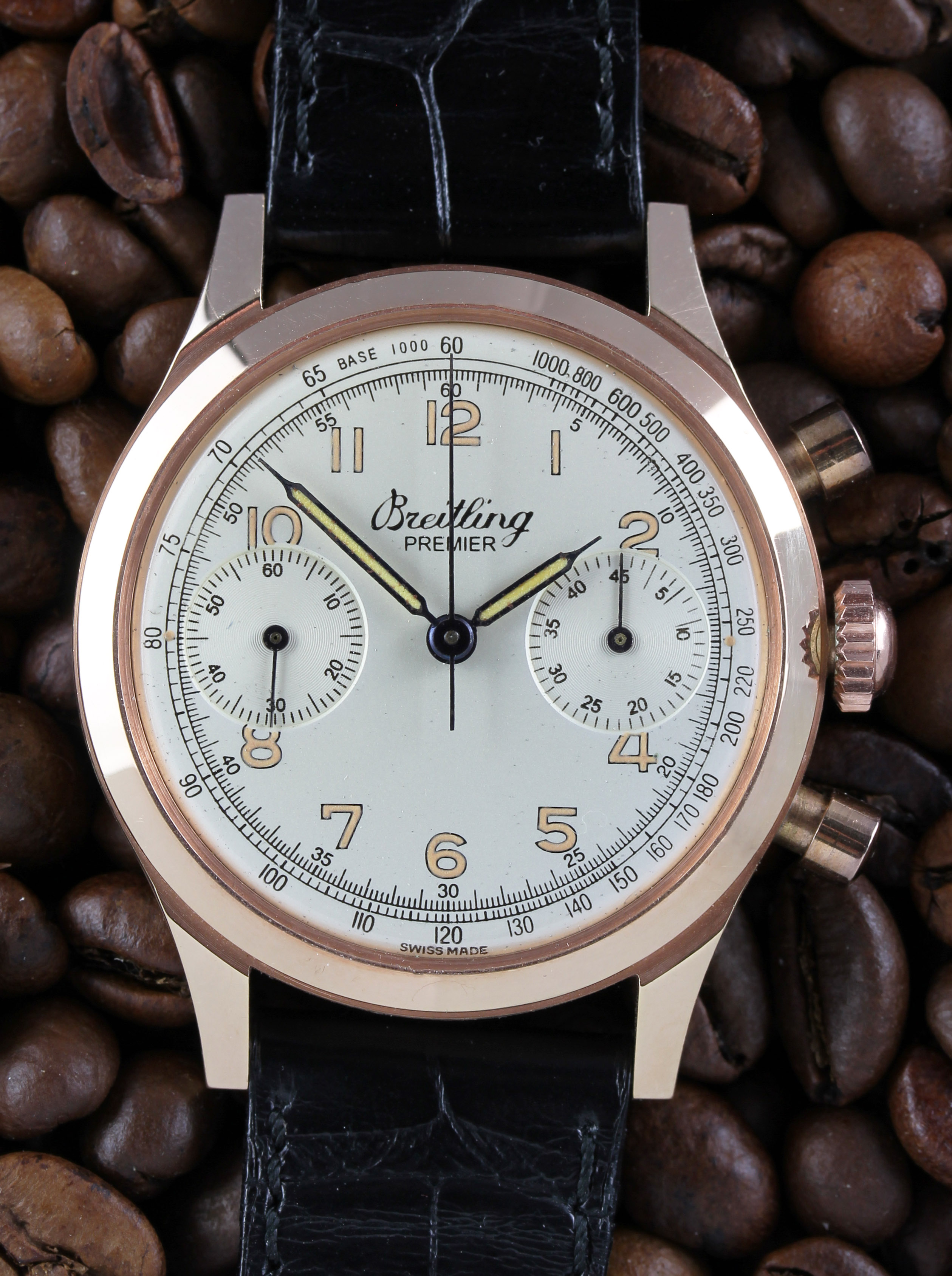 BREITLING chronograph Premier in pink gold