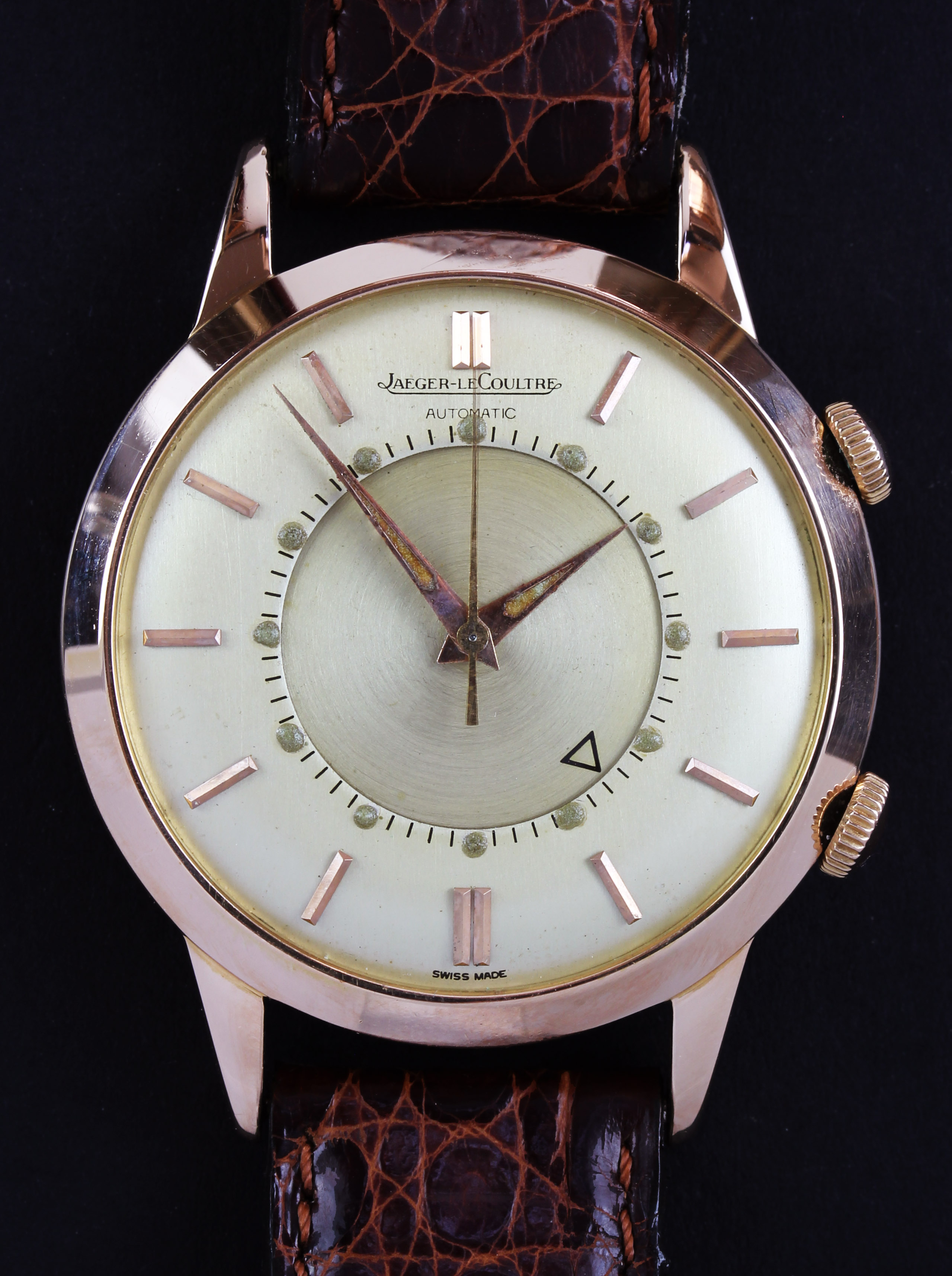 JLC Memovox in pink gold with original papers