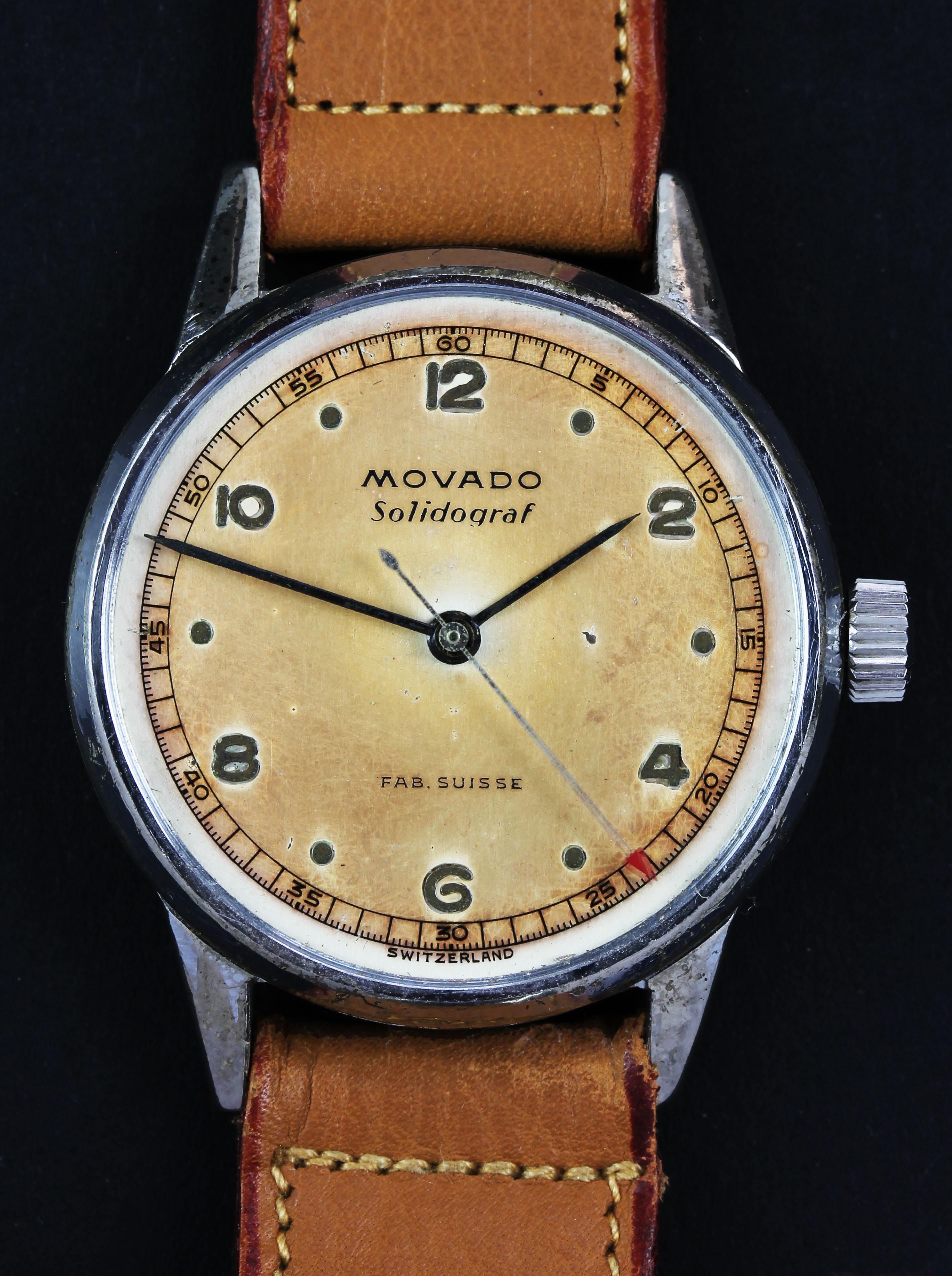 MOVADO with chocolate dial