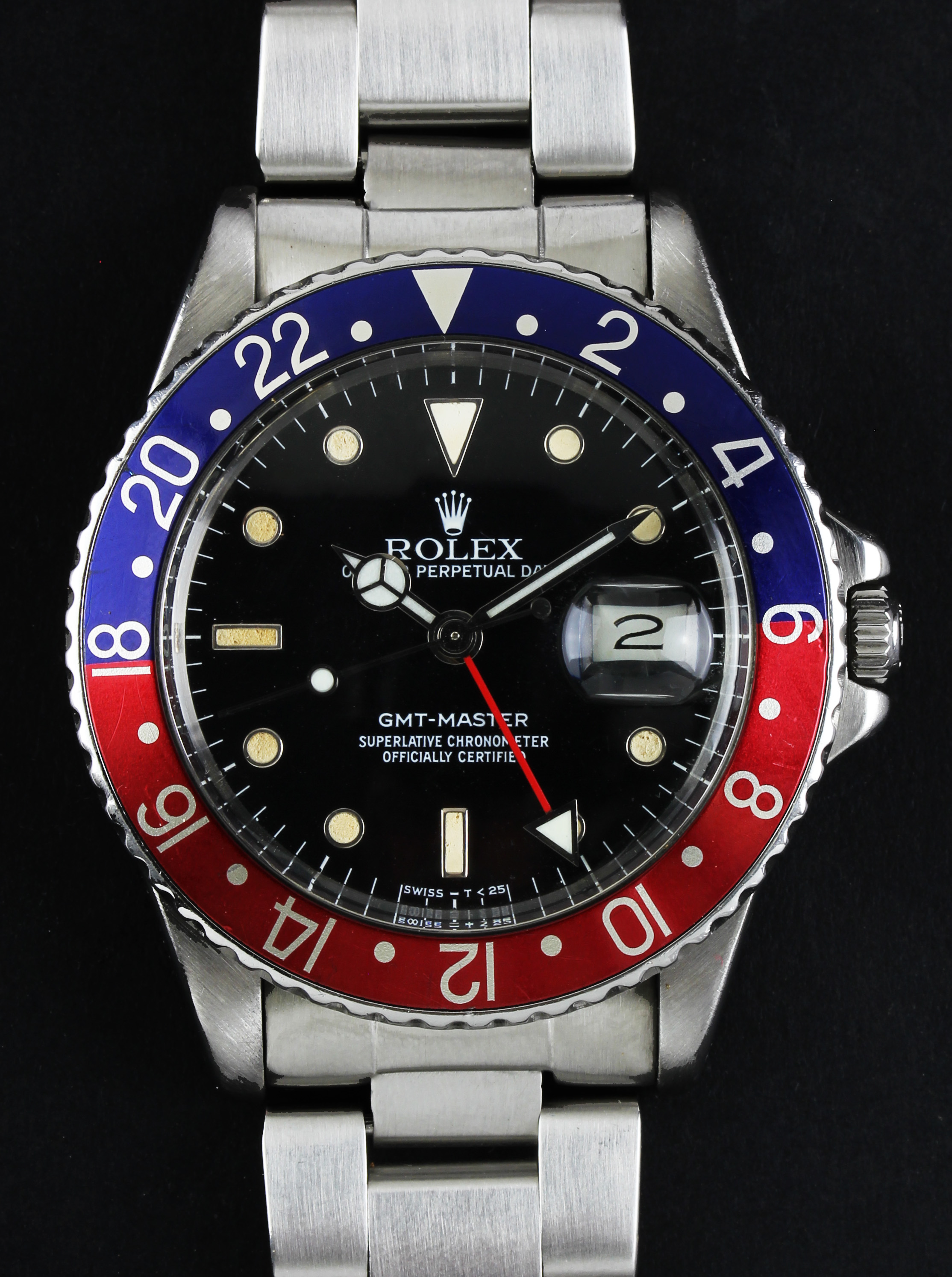 """ROLEX GMT-Master """"Pepsi"""" from 1984, ref. 16750, with quick set date"""