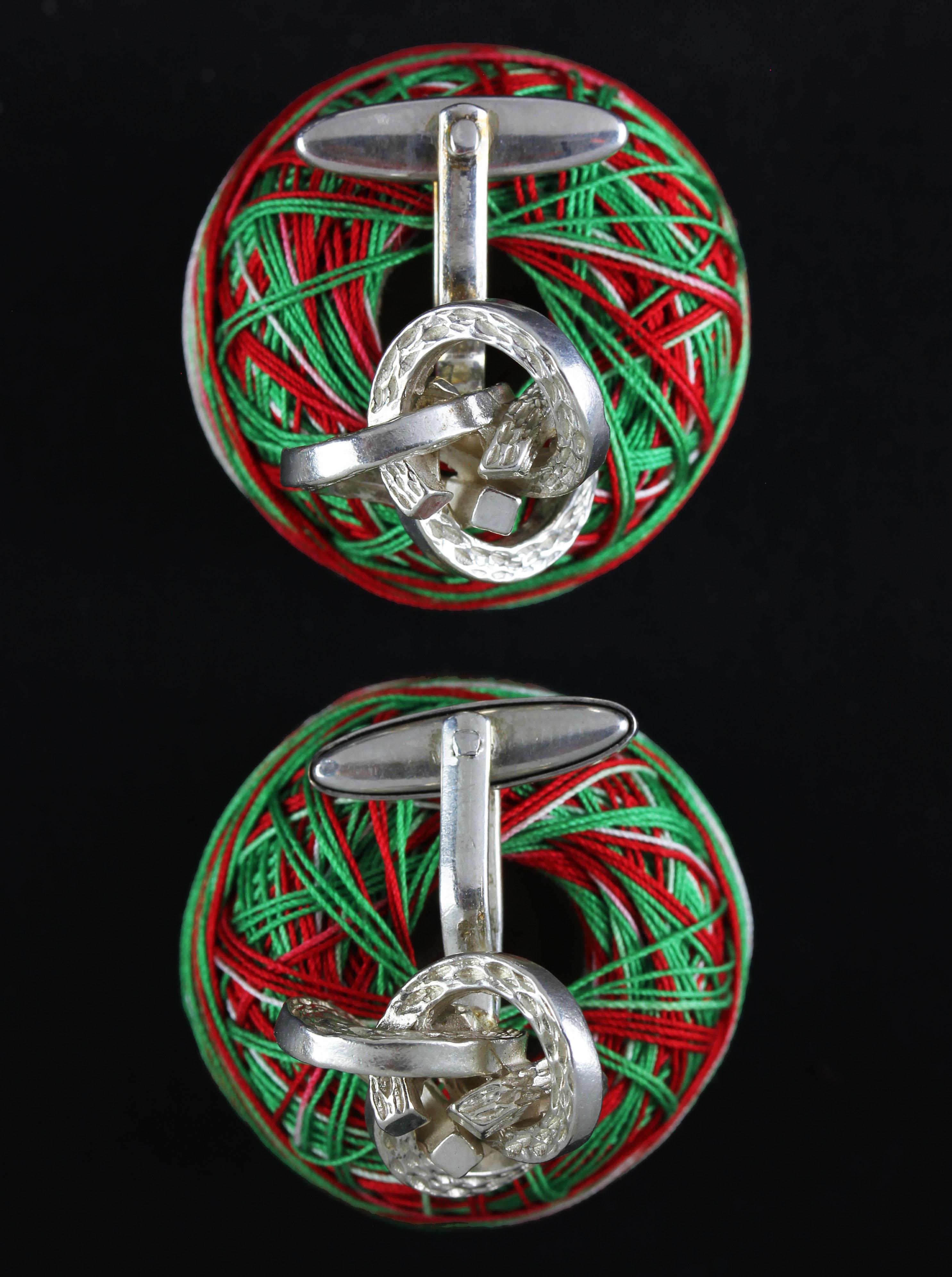 Rare knot cufflinks in a 60' ies design