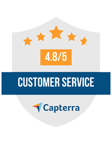 Capterra Badge - Customer Service 4.8/5