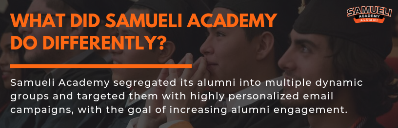 Samueli Academy engages alumni with personalized email campaigns