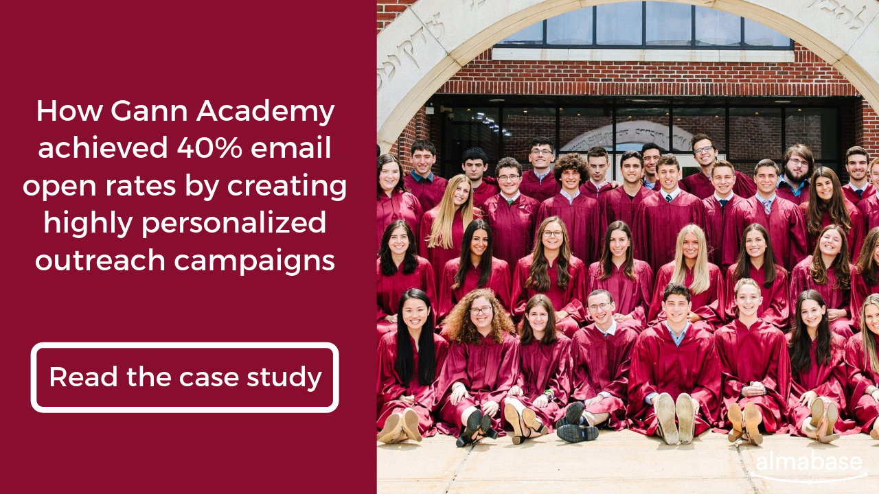 Read how Gann Academy achieved 40% email pen rates by creating highly personalized email outreach campaigns