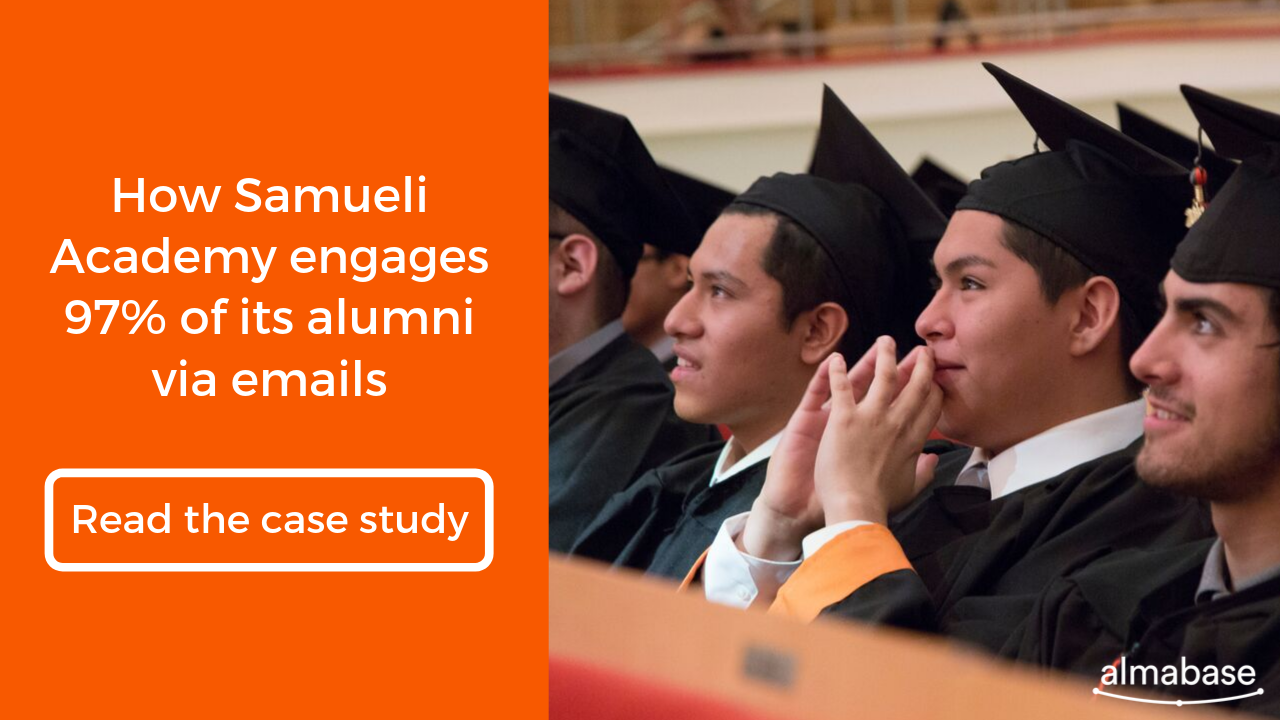 Read how Samueli Academy engages 97% of its alumni via emails
