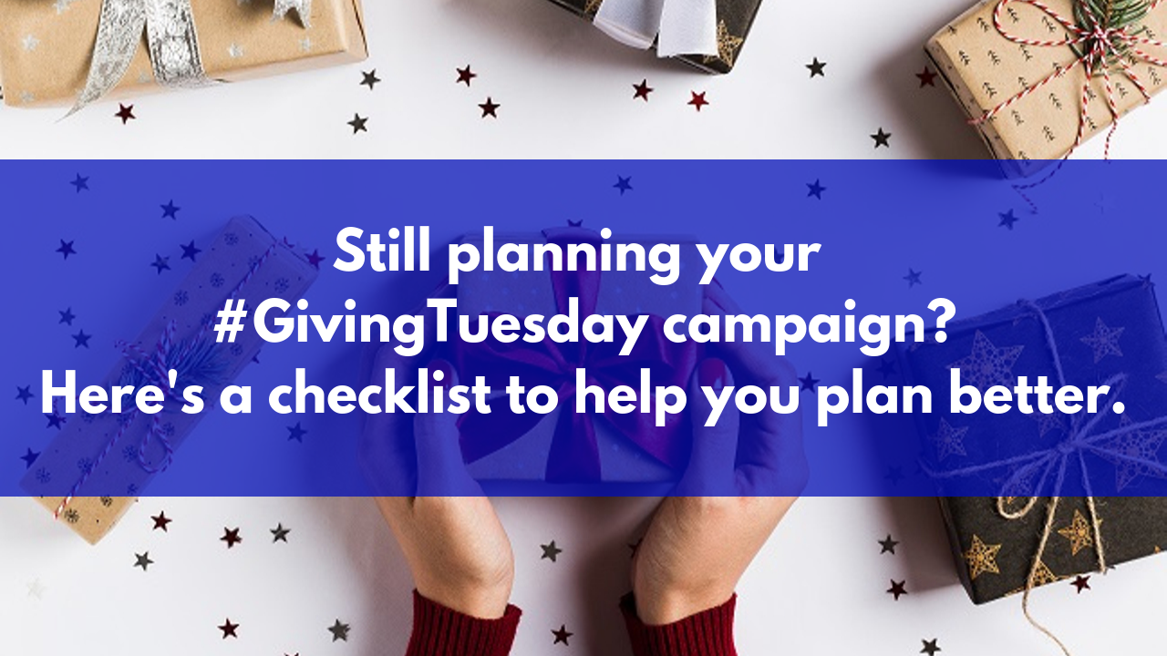 How to plan your Giving Tuesday campaign