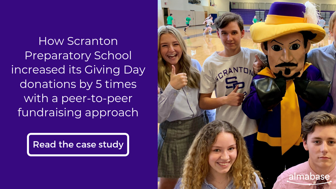 How Scranton Preparatory increased its Giving Day donations b y 5 times with a peer-to-peer fundraising approach