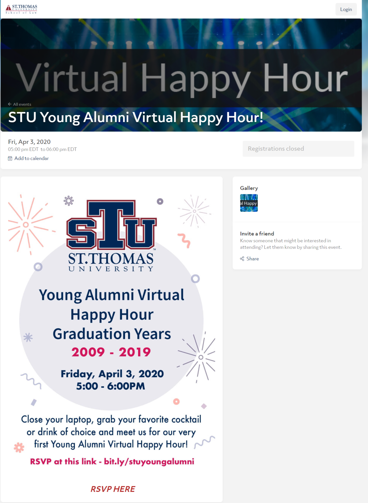 Young Alumni Virtual Happy Hour Event to Boost Alumni Engagement