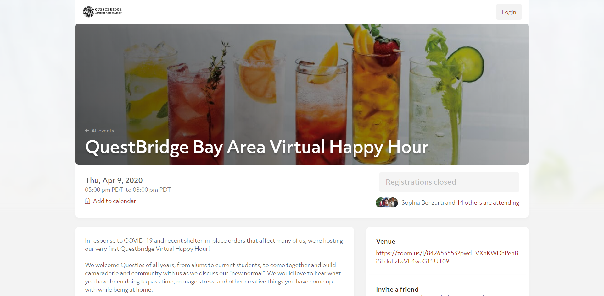 Virtual Happy Hour event to Boost Alumni Engagement