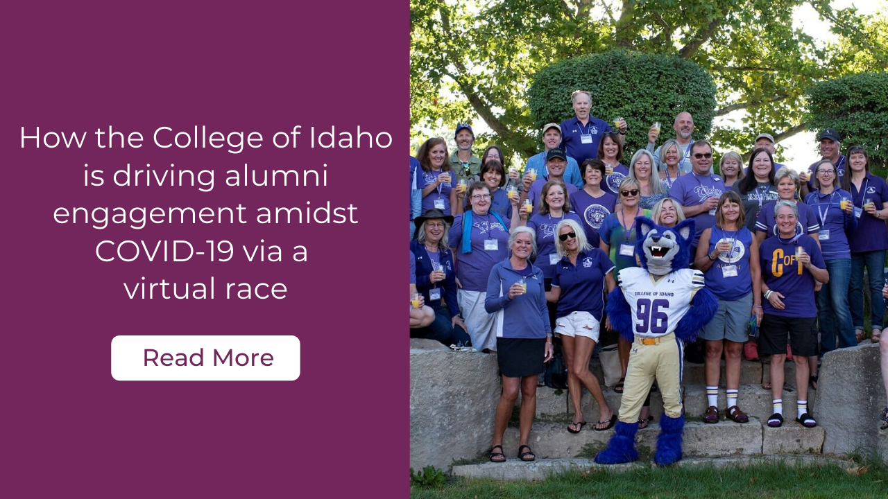 How the College of Idaho is driving alumni engagement amidst COVID-19 via a virtual race