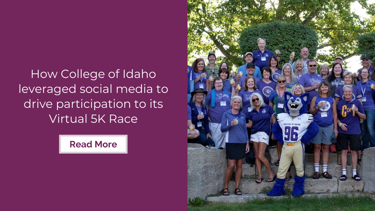 How College of Idaho leveraged social media to drive participation to its virtual 5K race