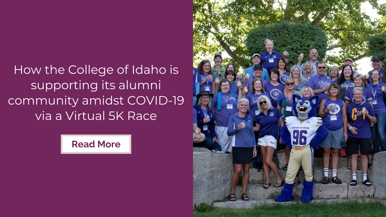 How the College of Idaho is supporting its alumni community amidst COVID-19 via a virtual 5K race