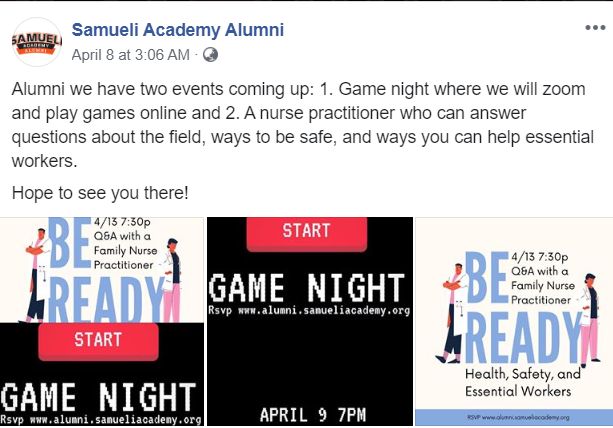 Samueli Academy's Social Distancing Gaming Night