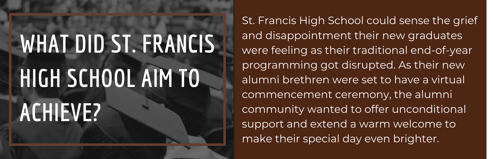 St. Francis High School welcomed Class of 2020 alumni