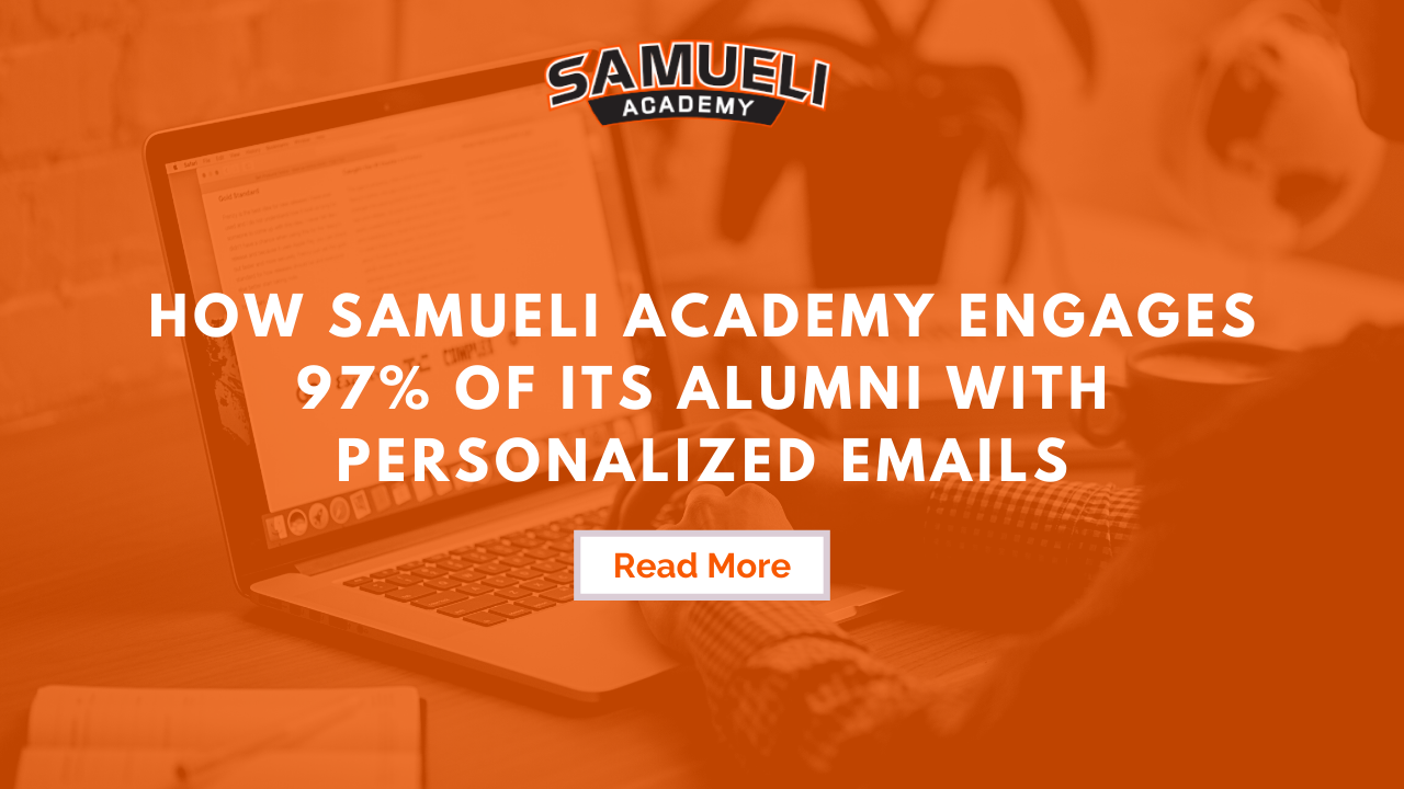 Samueli Academy's Email Success with Almabase