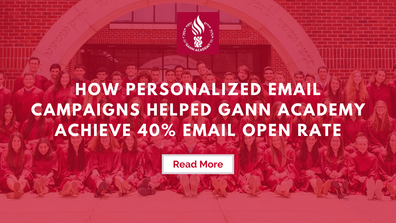 Gann Academy's email engagement success with Almabase