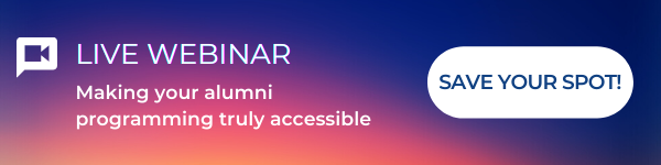 Live Webinar - Making your alumni programming truly accessible