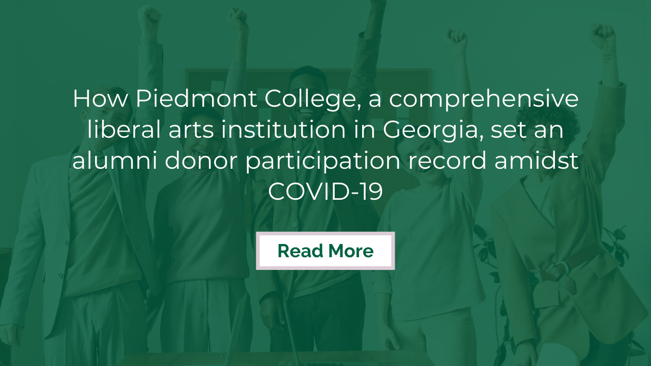 How Piedmont College set an alumni donor participation record amidst COVID-19