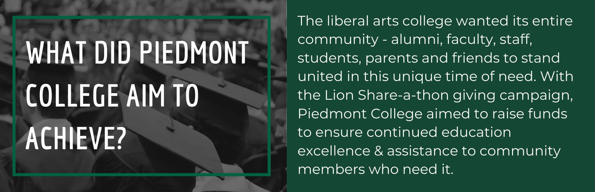 What did Piedmont College aim to achieve?