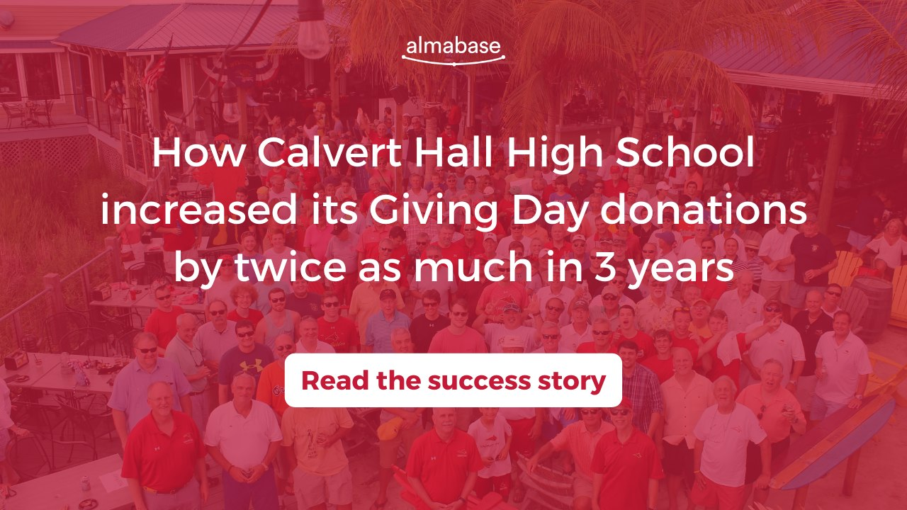 How Calvert Hall High School increased its Giving Day donations by twice as muvh in 3 years
