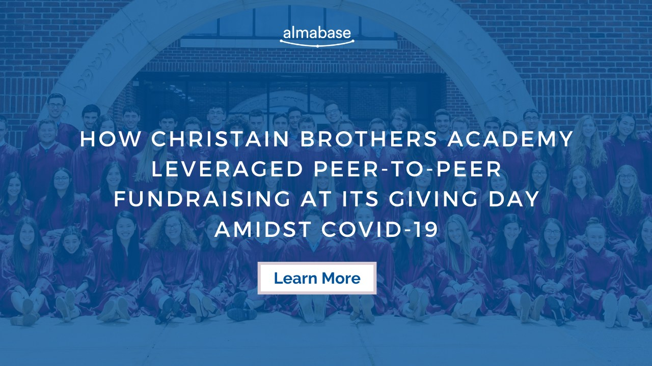 How Christian Brothers Academy leveraged peer-to-peer fundraising at its Giving Day amidst COVID-19