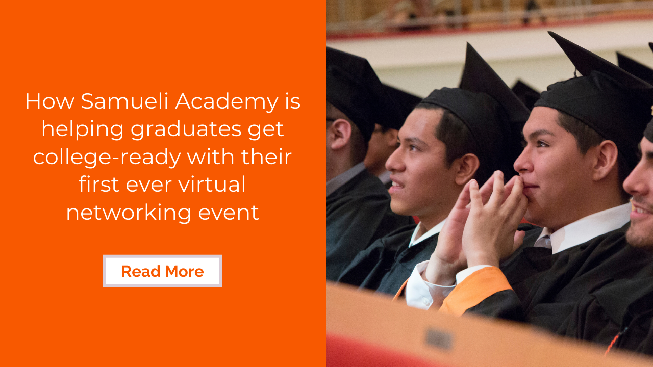 Samueli Academy's first ever virtual networking event