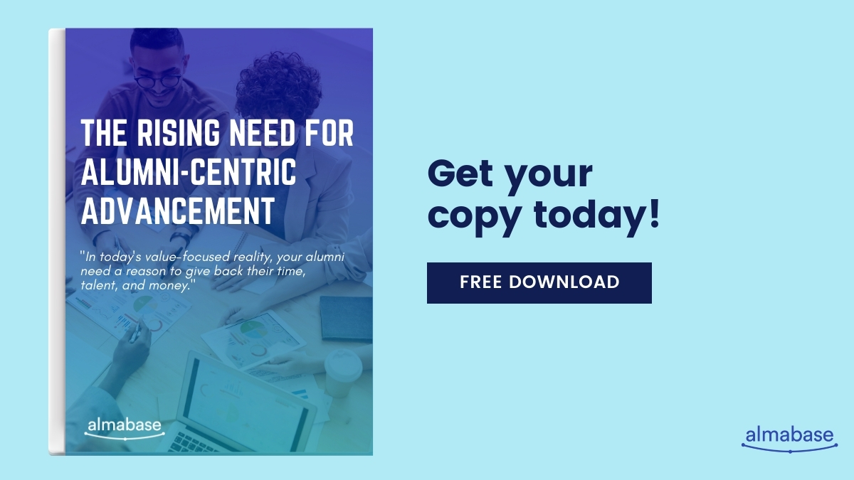 Free eBook - The Rising Need for Alumni Centric Advancement