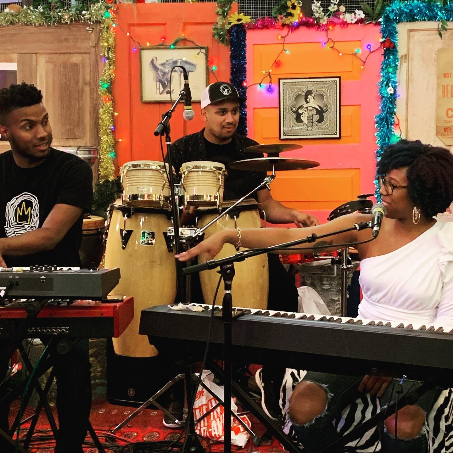 Makeda McCreary performs in the Lunar Lounge