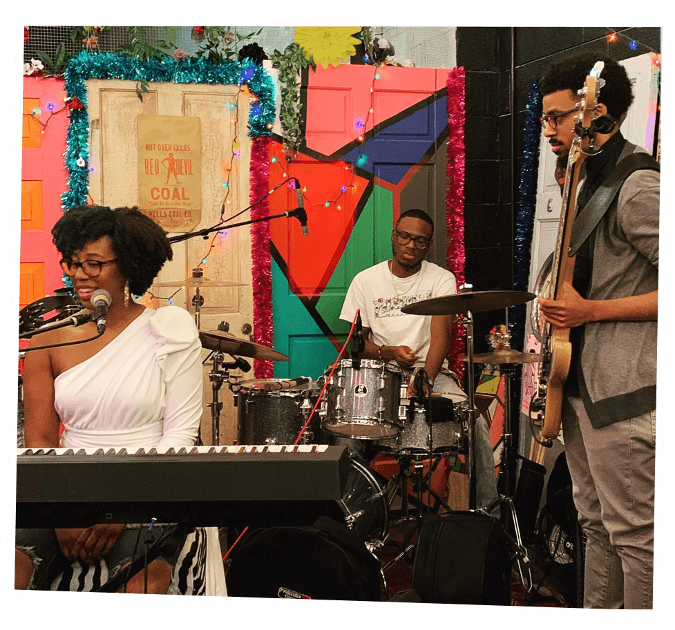 Singer, pianist, songwriter Makeda McCreary and band perform in the Lunary Lounge in 2019