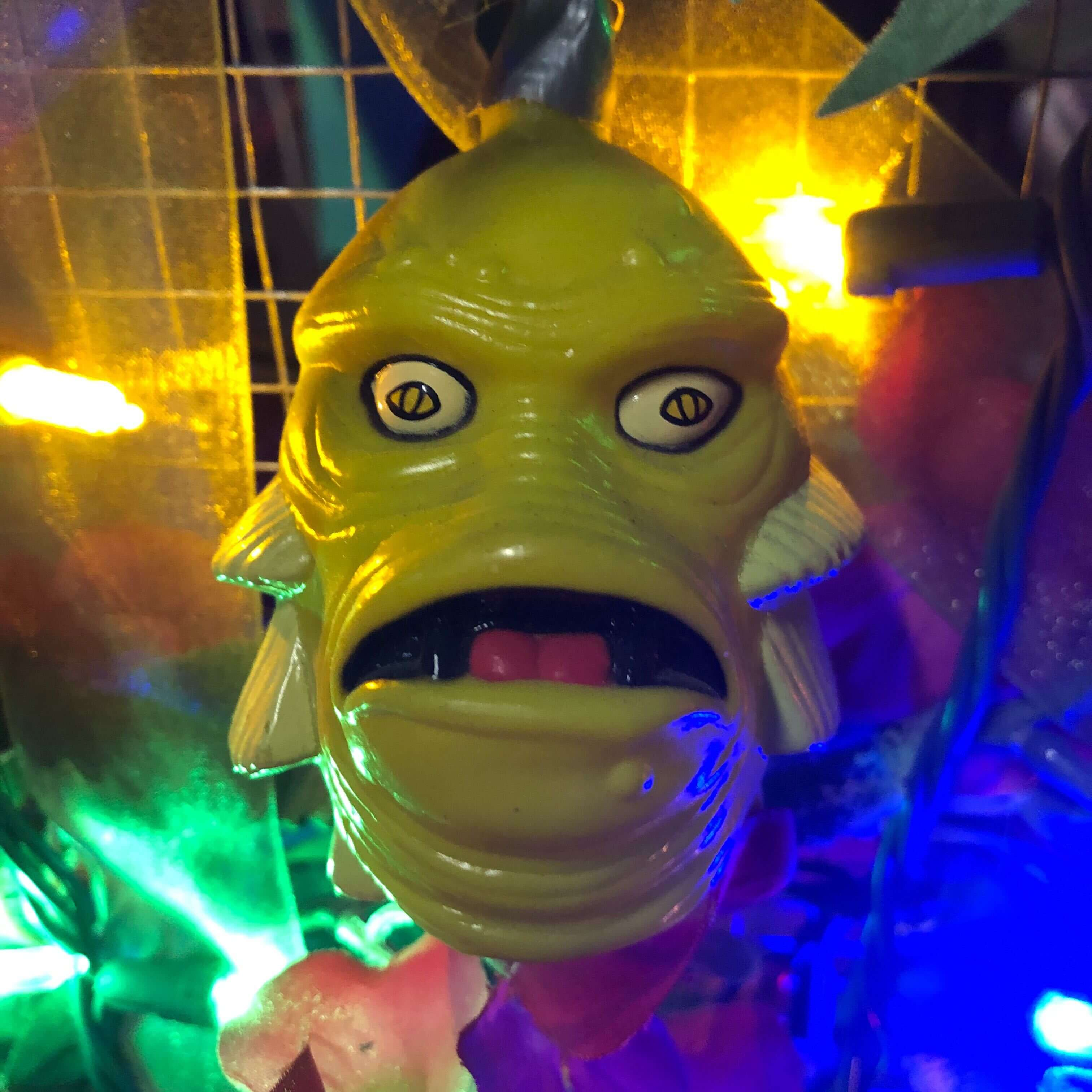Closeup of the Creature from the Black Lagoon