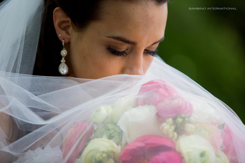 close up bride photo