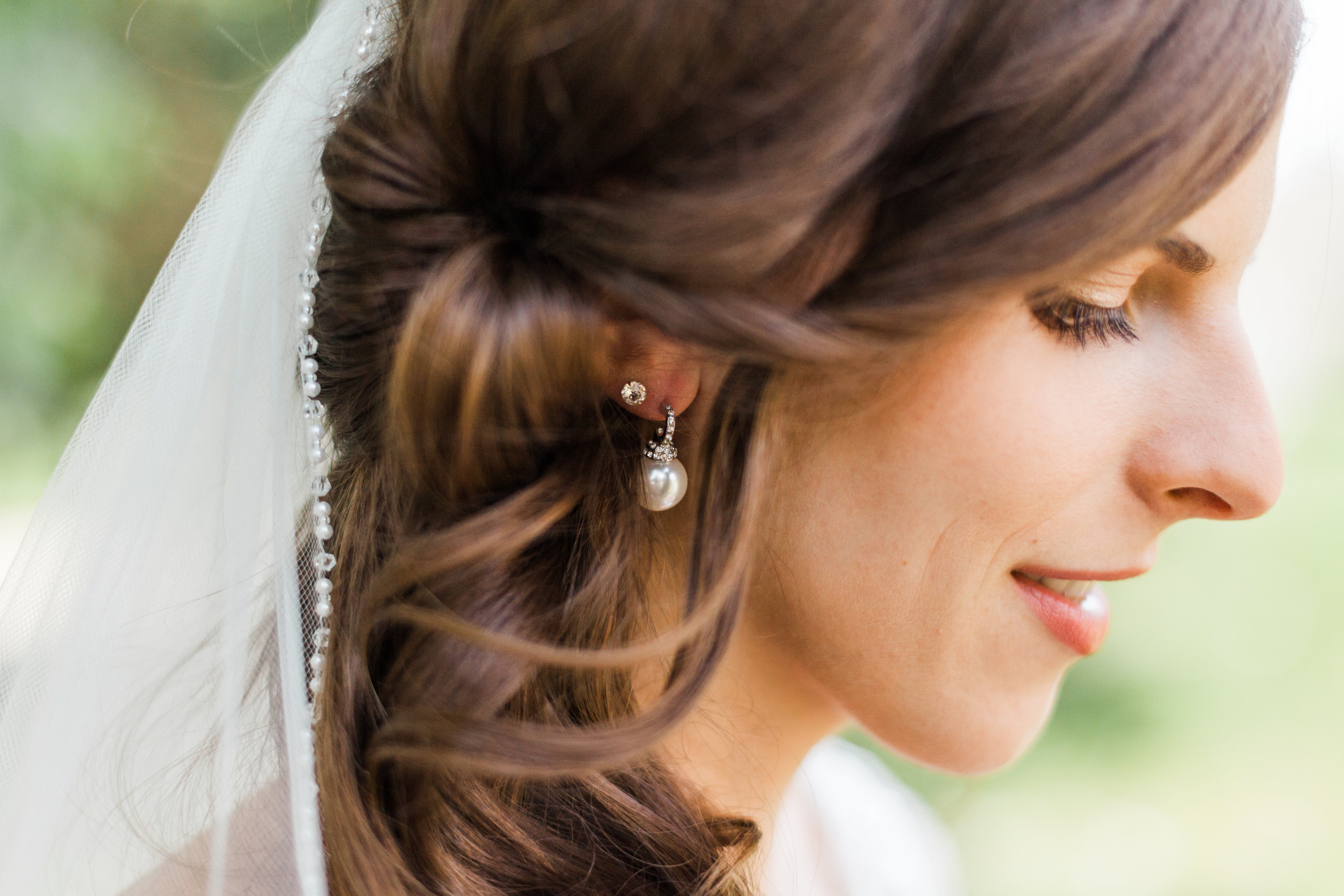 close up bride photo