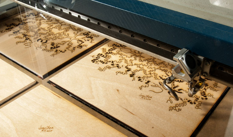 Lasercutting workshops in the fablab