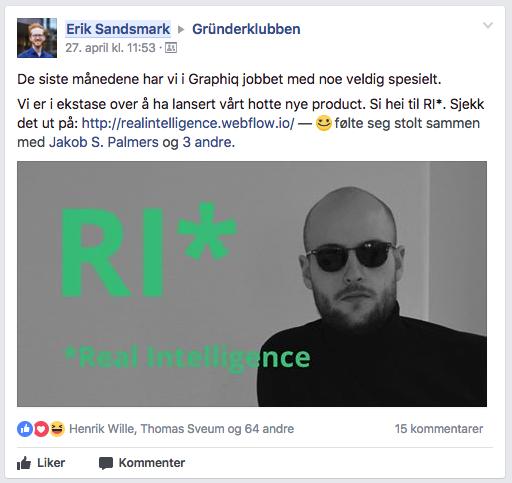 Gründerklubben Facebook Graphiq